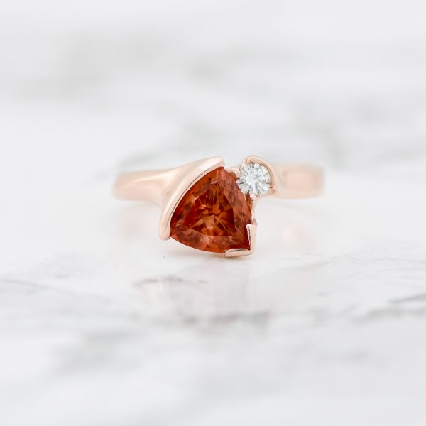 Oregon Sunstone rose gold ring