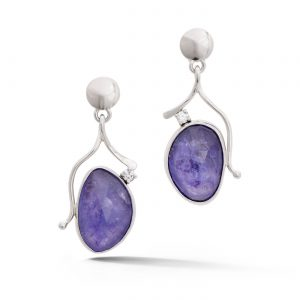 Rough Tanzanite Earrings