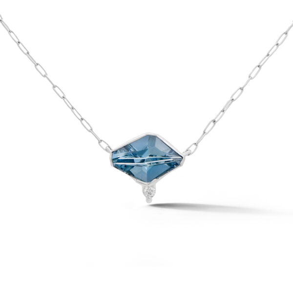 Fantasy Aquamarine and Diamond Pendant