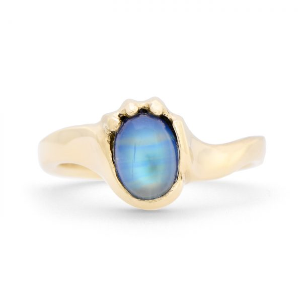 Oval Rainbow Moonstone Ring
