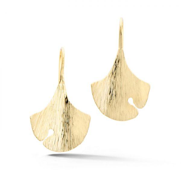 Ginkgo Earrings 14k yellow gold