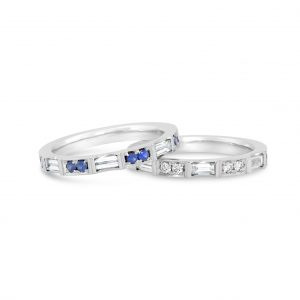 Diamond Baguette Stackable Bands