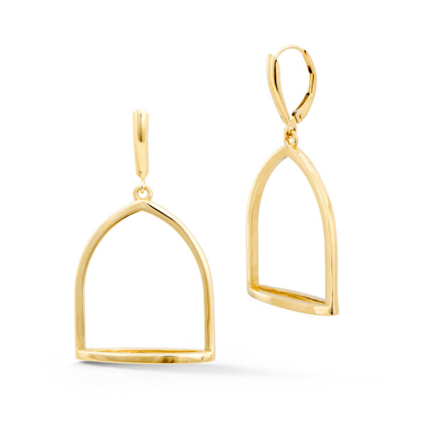 Large Stirrup Earrings