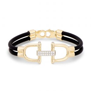 Snaffle Bit and Diamond Bracelet