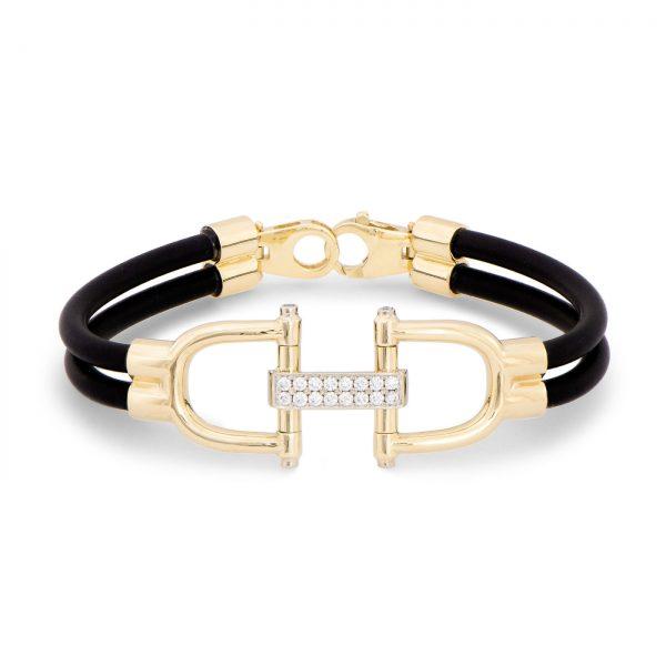 Snaffle Bit and Diamond Bracelet