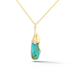 Turquoise and Diamond Pendant
