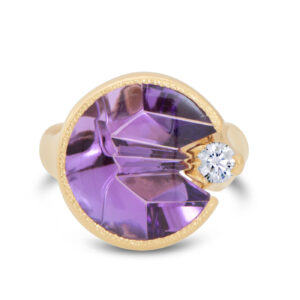 Custom Cut Amethyst Ring