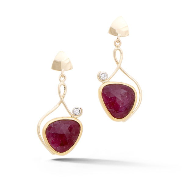 Ruby Slice Earrings