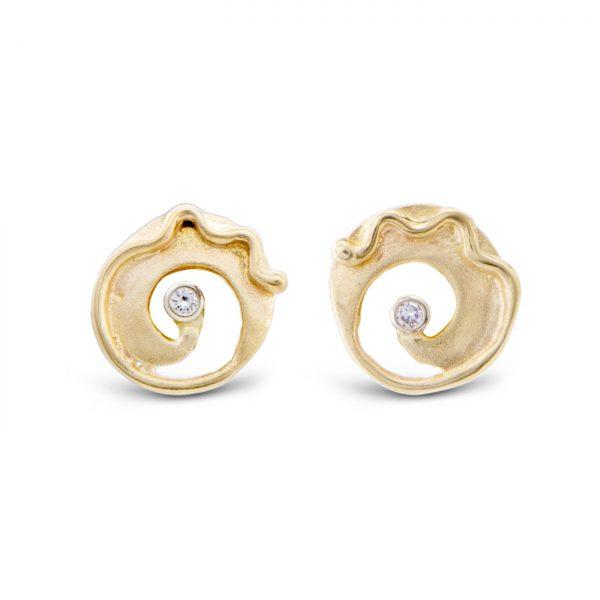 Gold Tendril Earrings