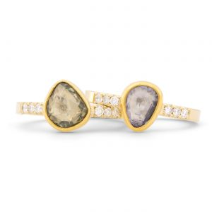 Rose Cut Sapphire Rings