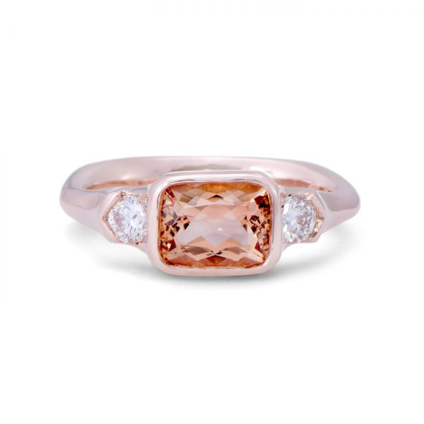 Imperial Topaz rose gold ring