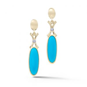 Long Turquoise Drop Earrings