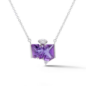 Amethyst and Diamond pendant