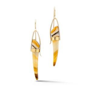 Curved Montana Agate Earrings