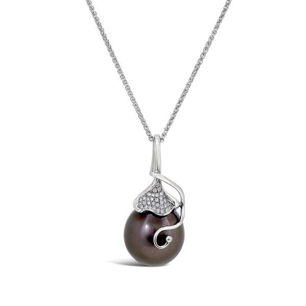 Tahitian Pearl and Diamond Pendant