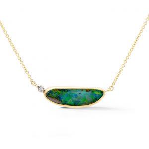 Split chain boulder opal