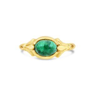 Emerald Fleur de Lis ring